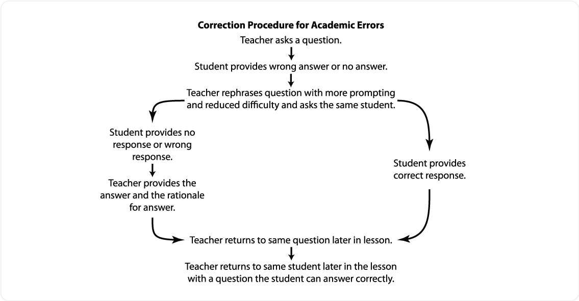 Providing Academic Feedback - Correction Procedure for Academic Errors