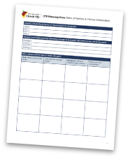 CCU Planning Form