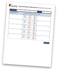 Coach Intervention Monitoring Form