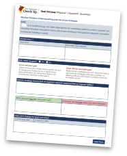 Physical Classroom Structure - Goal Setting Tool