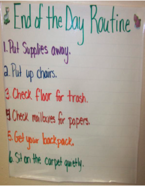 Teaching Classroom Routines - Ex 3